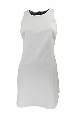 Topshop White Scuba Sleeveless Dress with Cut Out Detail