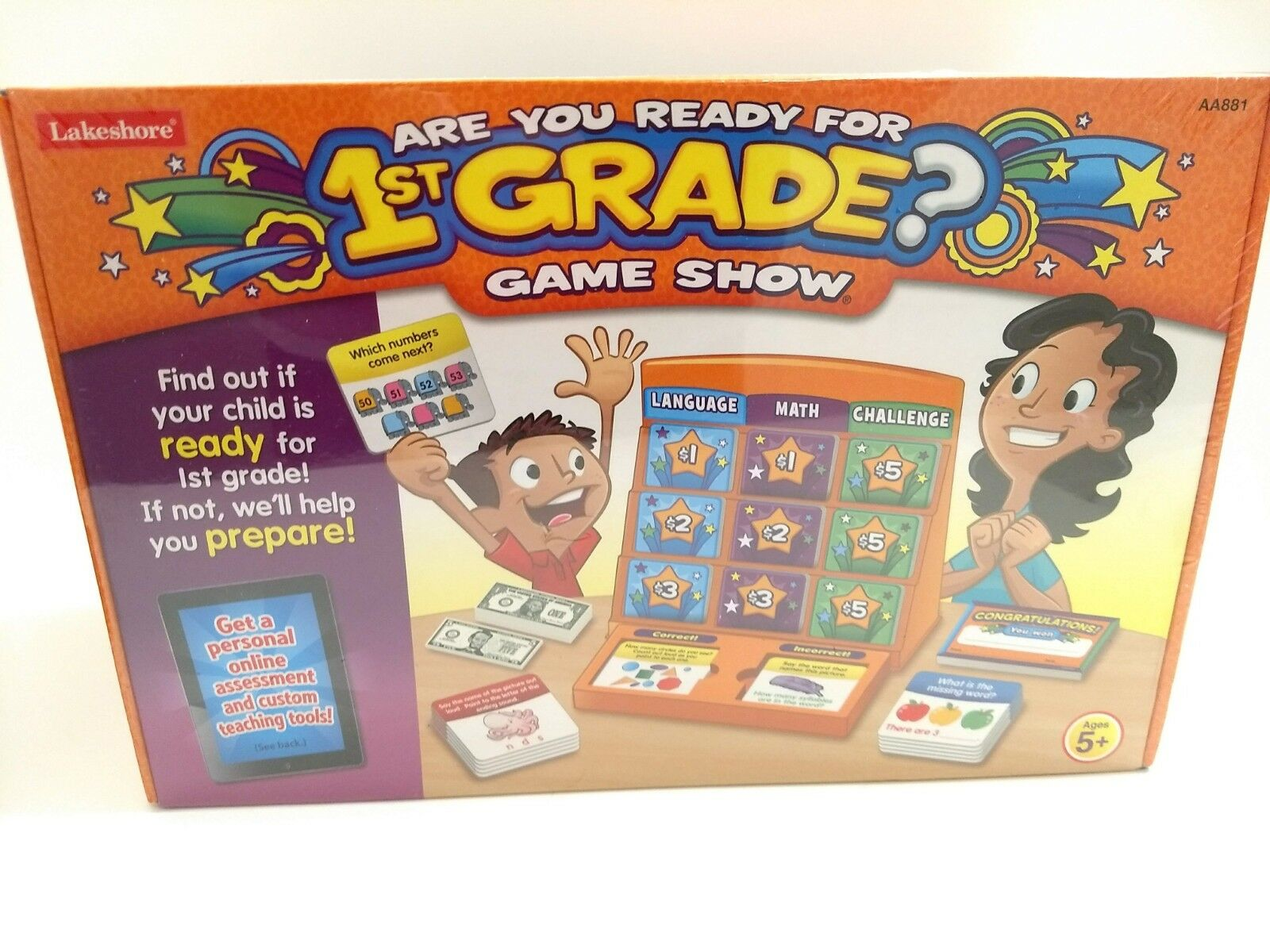 LAKESHORE LEARNING ARE YOU READY FOR 1ST GRADE Game Show  NEW SEALED