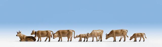 NOCH 15722  Cows, Dark Brown HO 1/87