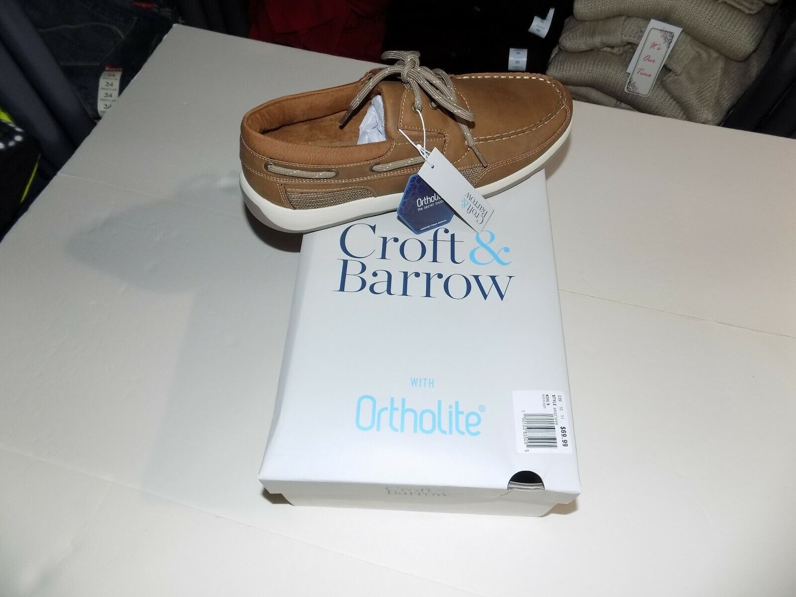 Croft \u0026 Barrow Brice Mens 10 Wide Tan