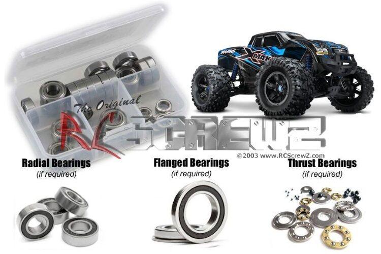 Rc Screwz TRA061R 4x4 Camión Goma Projoector Rodamientos Traxxas X-Maxx