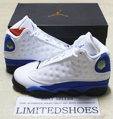 Nike Air Jordan Retro 13 XIII BG GS 884129-117 White Hyper Royal-Blck AUTHENTIC