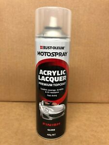 RUSTOLEUM AUTOMOTIVE ACRYLIC PAINT TOP COAT GLOSS CLEAR AEROSOL 400G