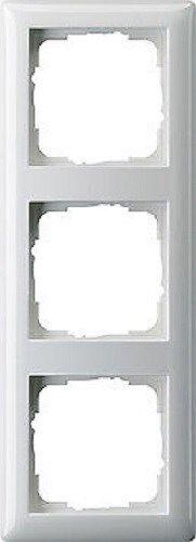 3 x-marco GIRA Sistema 55 blanco puro brillante Tipo 021303 inastillable