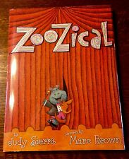 Rare DOUBLE SIGNED Marc Brown Judy Sierra ZOOZICAL 2011 1st Edition/1st Printing