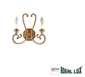 IDEAL-LUX-Applique-LAMPADA-DA-PARETE-CORTINA-AP2-RUGGINE-Codice-088440