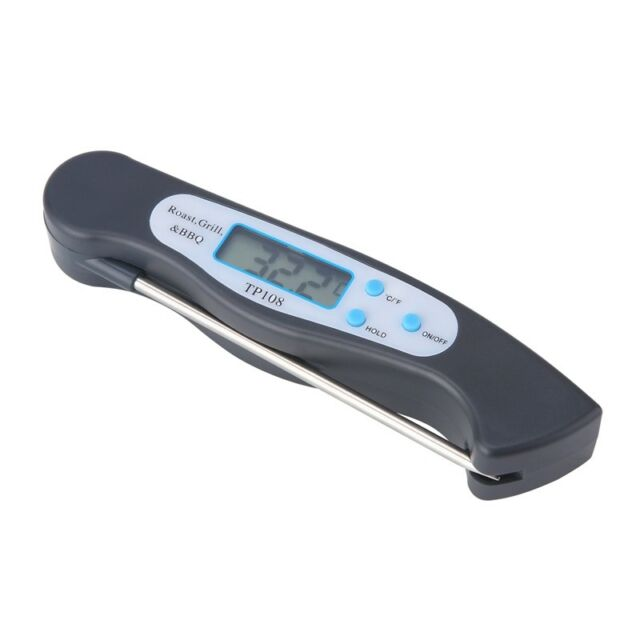 TP108 Top-Spring Foldable Digital Thermometer BBQ Meat Food Probe Kitchen T N1R6