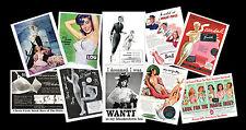 Vintage Lingerie Adverts Retro Images on Postcards, Set of Ten re-prints vol 2