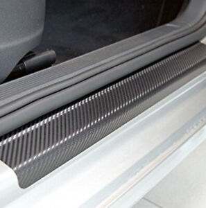 4-x-Car-Door-Sill-Scuff-Carbon-Fiber-Sticker-Welcome-Pedal-Protect-Accessories