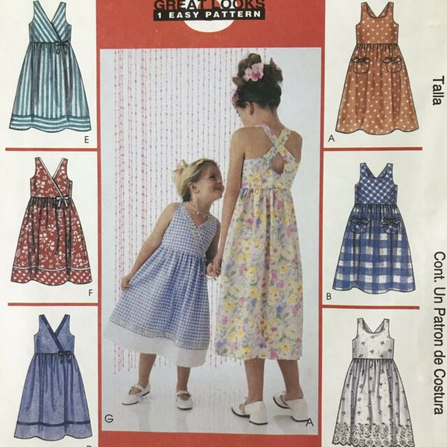 Waistcoat Skirt /& P... Simplicity Childrens Easy Sewing Pattern 1568 Dress
