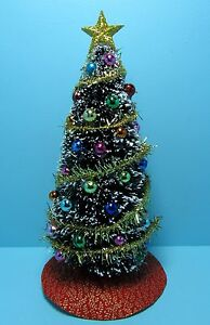 image is loading dollhouse miniature fully decorated christmas tree in multi