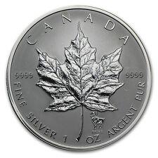 2004 Canada 1 oz Silver Maple Leaf Aries Zodiac Privy - SKU #60983