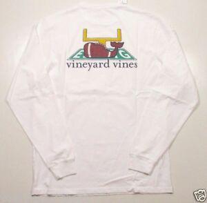 aa6ccb99936dcf Vineyard Vines Men s L S White Cap Touchdown Graphic Pocket Football ...