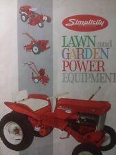 Simplicity Walk Behind Wonder Boy Amp 700 Lawn Garden Tractor Color Sales Brochure