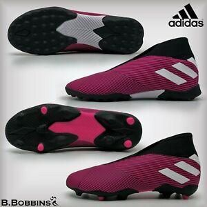 Adidas-nemeziz-19-3-Laceless-Chaussures-De-Football-Taille-UK-10-11-1-2-3-4-5-Garcons-Filles