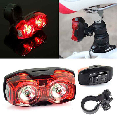 Red Bicycle LED Indicator Bike Rear Tail Laser Warn Super Light Batteries AAA