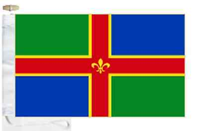 Lincolnshire County Boat Toggled amp; Roped Flag Courtesy SSfwxgrq