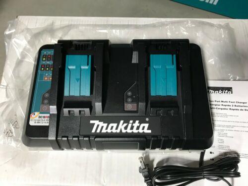 Genuine Makita DC18RD 18V Lithium-Ion Dual Port Rapid Optimum Charger USB Port