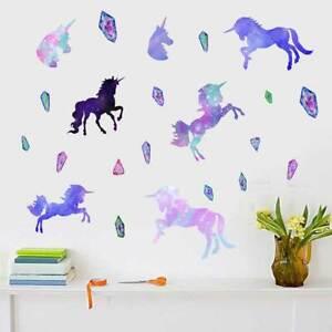 Unicorn-Animal-Removable-Kids-Wall-Stickers-Nursery-Girls-Decor-PVC-Vinyl-Decal