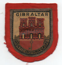 Old Engish Military Patch GIBRALTER W/ Castle