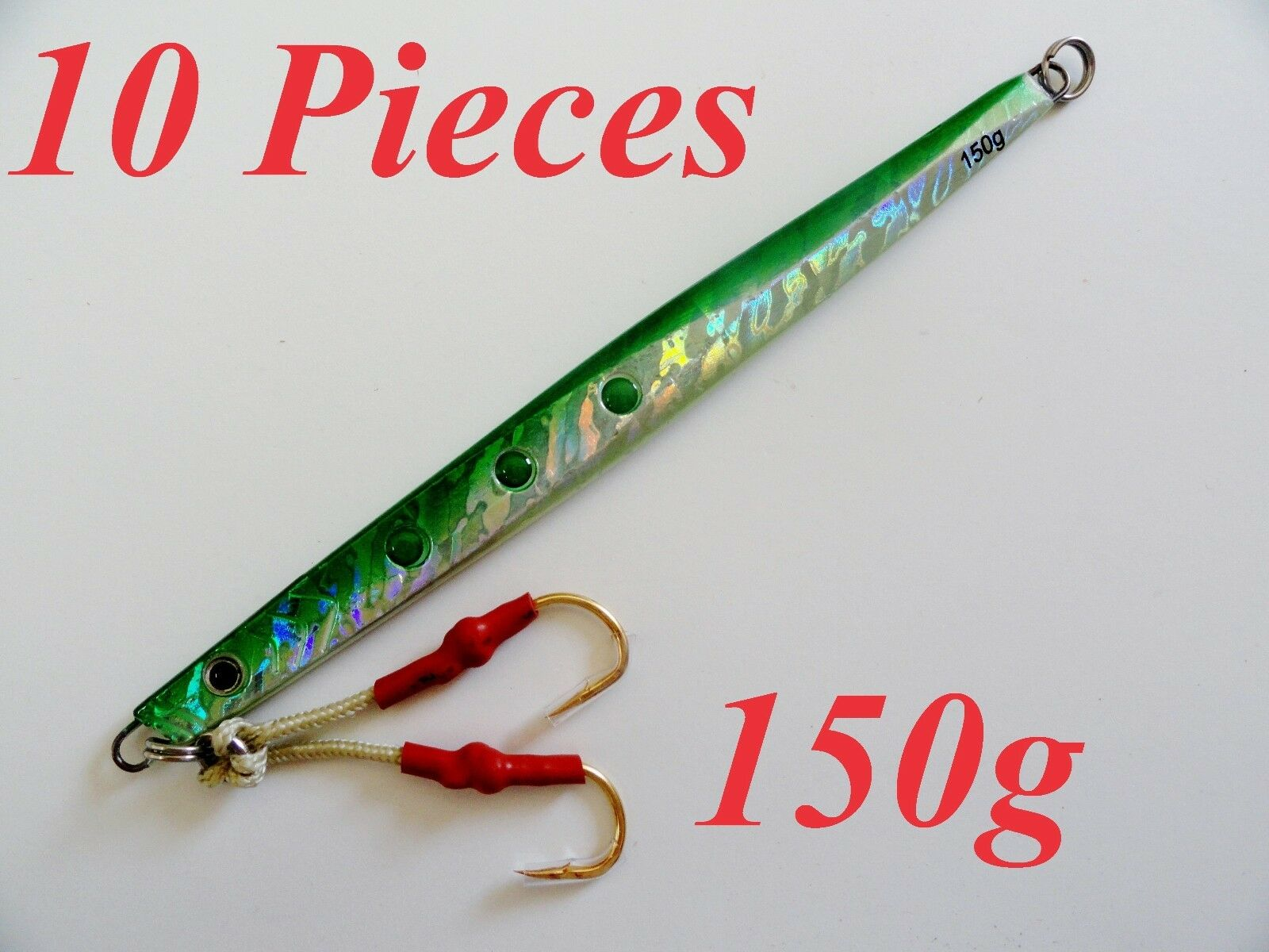 10 Pieces speed jigs 5.25oz  150g Green greenical butterfly fishing Lures