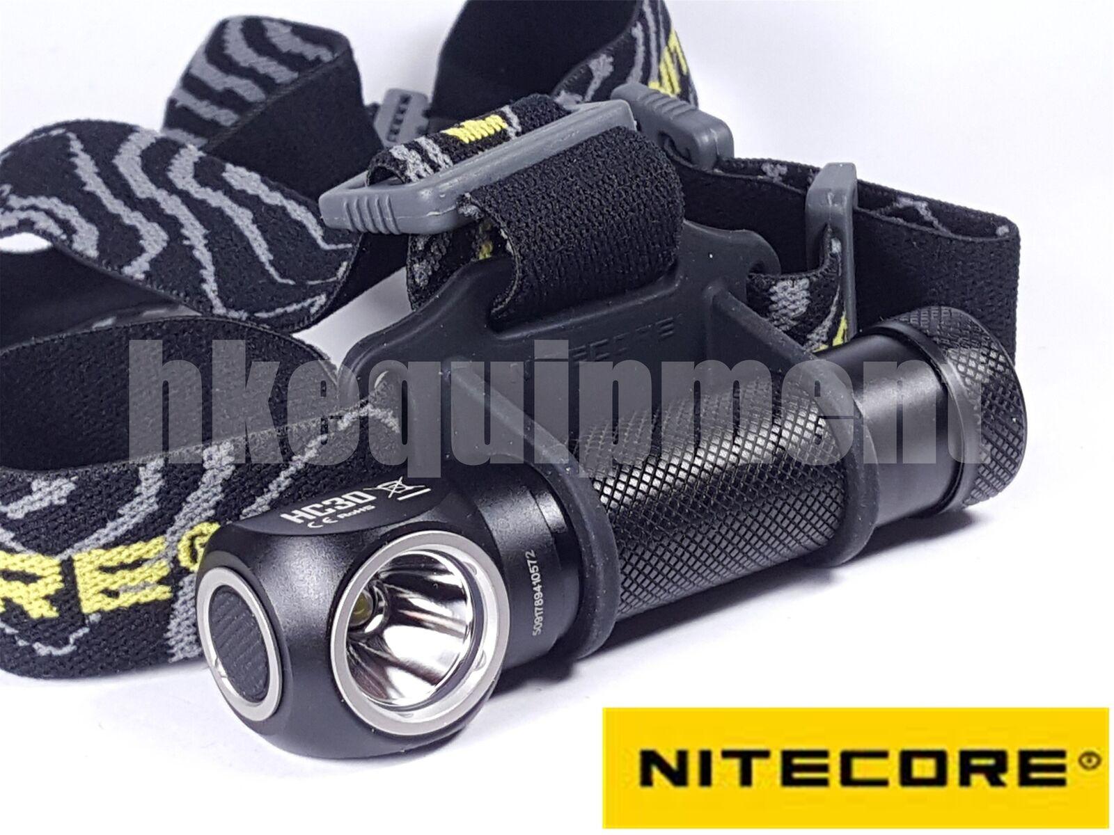 NiteCore HC30 HC30W Cree XM-L2 1000lm 18650 Headlight Headlamp +  FREE 2x CR123A  fashion mall