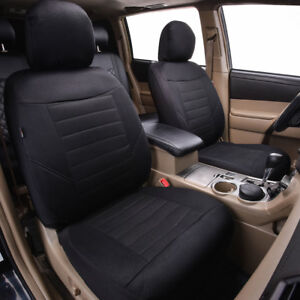 Universal-Car-Seat-Covers-2-Front-Black-Airbag-For-Hyundai-Honda-Toyota-Holden