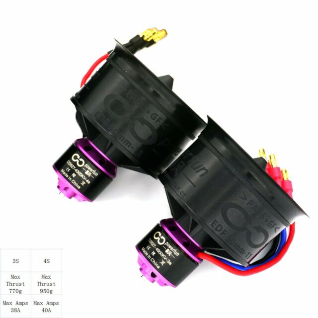 Powerfun EDF RC electric ducted fan for model airplane