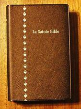 French Bible, Revised Segond, Brown Metallic Vinyl La Sainte Bible, Colombe  f/s