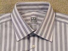$99 IKE BEHAR (NEW YORK) COTTON DRESS SHIRT17 X 34/35 W/POCKET- NEWwTAGS