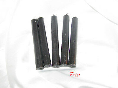 "Black 4"" Ritual Chimes Candles 5 pack Wiccan Hoo Doo"
