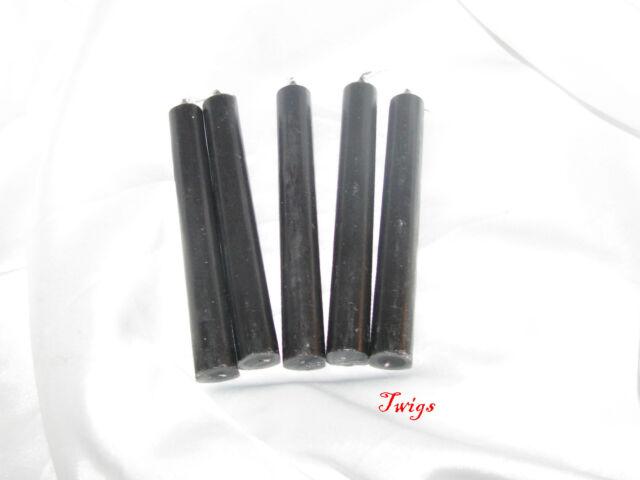 """Black 4"""" Ritual Chimes Candles 5 pack Wiccan Hoo Doo"""