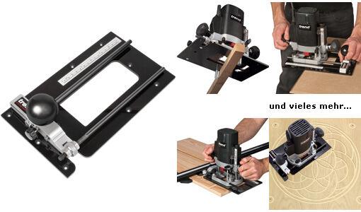 Fräszirkel - 7-in-1 Adapterplatte für Oberfräsen Ausgleichsplatte Basisplatte
