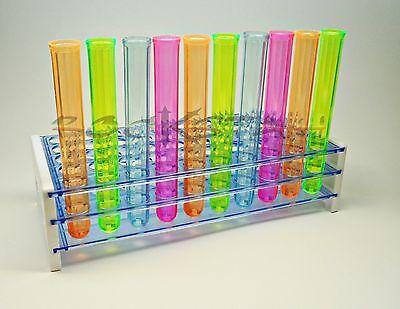 Plastic Bar Shot Glass Test Tube Rack- 40 Jager Shot Shooter Holder Clear Color
