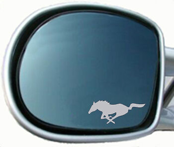 SPIEGELAUFKLEBER Mustang PFERD Glasgravureffekt  2 stk.