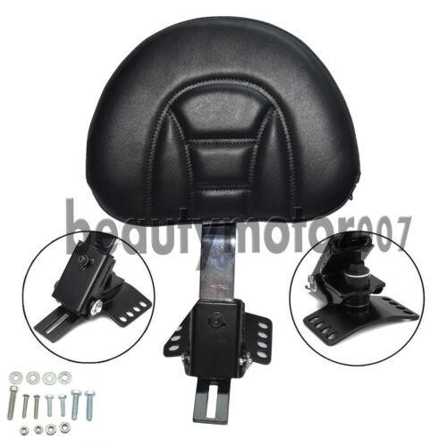 Adjustable Plug-In Driver Rider Backrest Kit For Harley Touring LTR FLHT 97-17