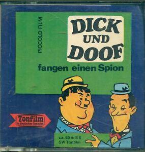 SUPER-8-FILM-LAUREL-amp-HARDY-PICCOLO-60-m-TON-DICK-DOOF-FANGEN-EINEN-SPION-OVP