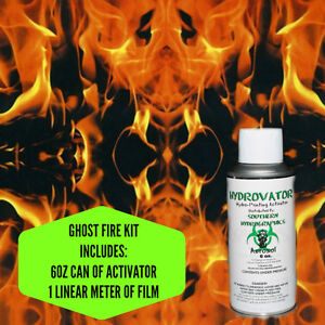 HYDROGRAPHIC FILM WATER TRANSFER HYDRO DIP 6OZ. ACTIVATOR GHOST FIRE KIT
