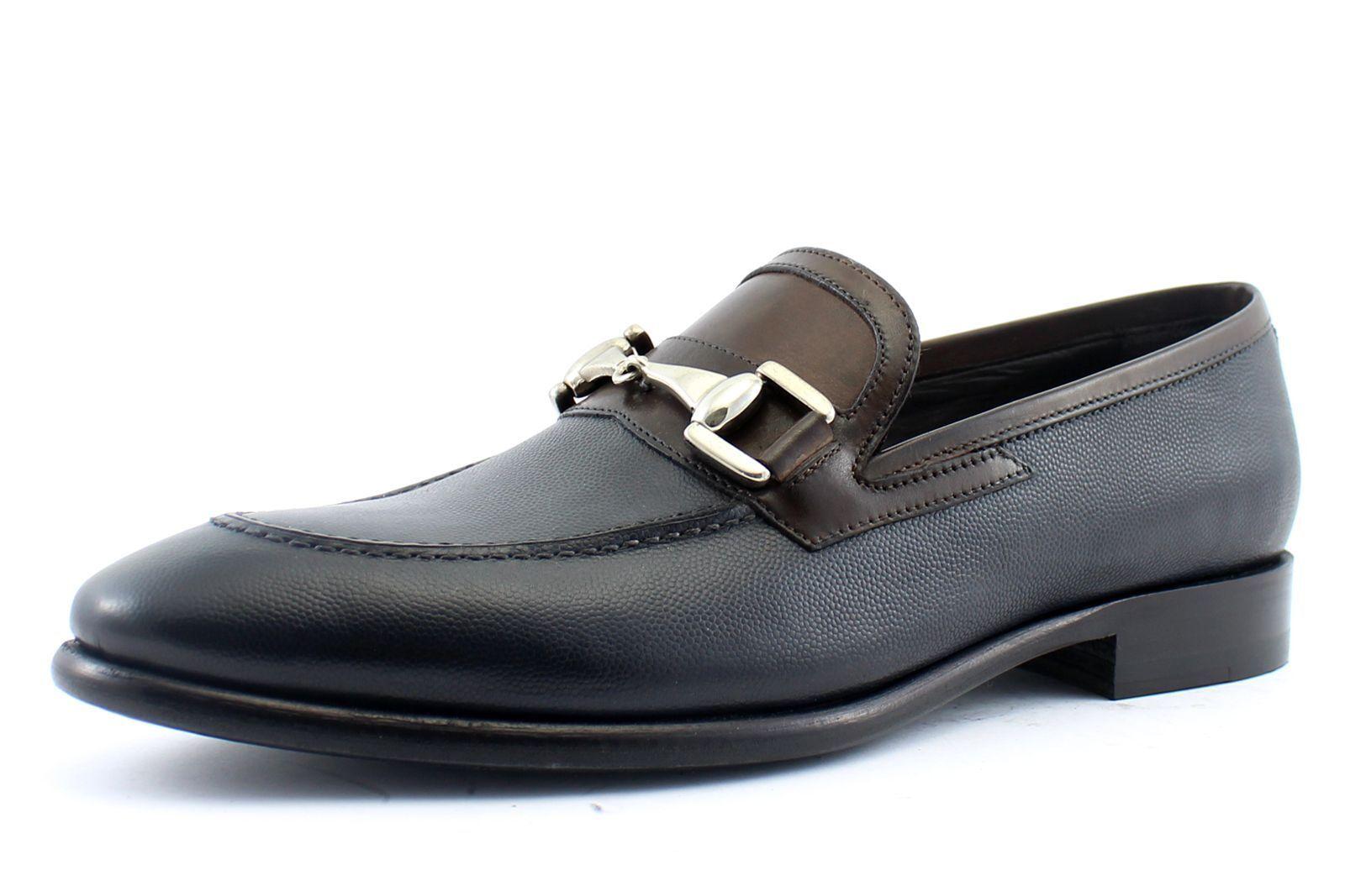 Men scarpe leather Italian Giorgio Rea US 7 8 9 10 11 12 moda derbies 07356BL