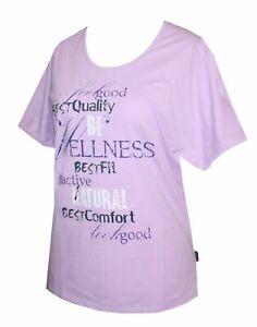 Schneider Sportswear Damen Shirt Pulli T-Shirt flieder lila Baumwolle Gr. 40/42