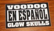 Voodo Glow Skulls En Espanol Sticker Decal Rectangle Promo 5x3