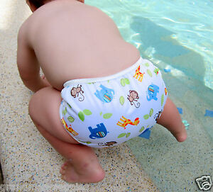 Reusable Baby Multifit Diaper Pants Nappies Swimmers Jungle