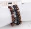 miniature 5 -  Bracelet with Stone Pen Natural Gemstone 6mm Bead Macrame Healing Reiki UKselle