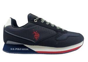 Scarpe uomo US Polo 4183 sneakers casual sportive basse comode alla moda blu