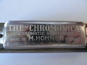 Chromonica Chromatique Harmonica Made By M. Hohner En Allemagne-très Rare-afficher Le Titre D'origine Sans Retour