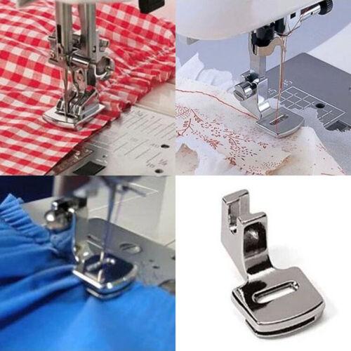 Bedeckte Nähfußfüße für die meisten Universal Nähmaschinen Silber