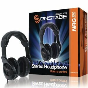 Koenig-OnStage-Multifunktions-Kopfhoerer-mit-Lautstaerkeregler