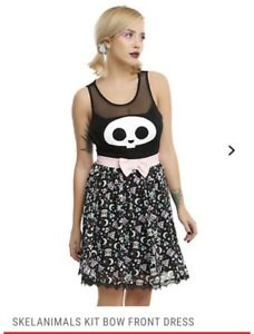 Xs nbsp;lolita Cute Front Bow Pastel Dress Skelanimals Goth wqptUvxC