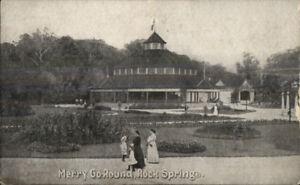 Merry-Go-Round-Carousel-Rock-Springs-WV-c1910-Postcard