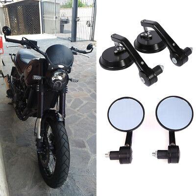 "Buell CNC Aluminum 7//8/"" Handle Bar Motorcycle Mirrors Black For Honda Grom 125"